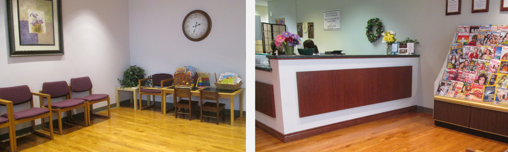 Pictures of the Milwaukee clinic location waiting room.